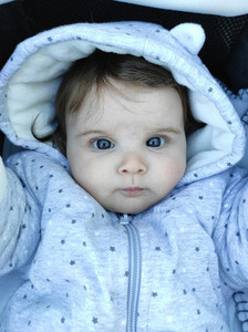 Lovely portrait of a 8 months baby girl