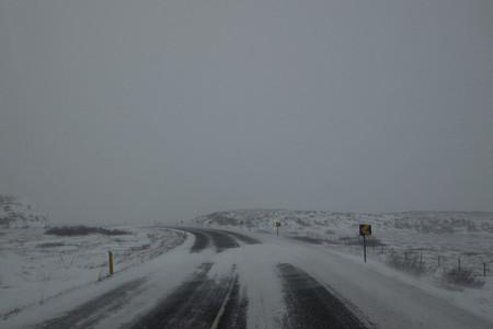Snowy remote road