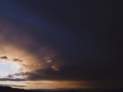 Dark majestic storm clouds in sky