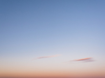 Blue and pink sunset sky