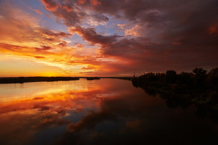 SABAC SERBIA   Colorful sunrise in Sabac
