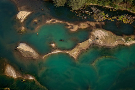 CRNA BARA  SERBIA   Aerial view of the beautiful river Drina