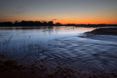 CRNA BARA  SERBIA  The Drina river at dusk  The photo was taken in Serbia