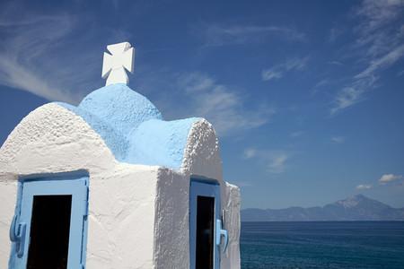 Small traditional Greek church