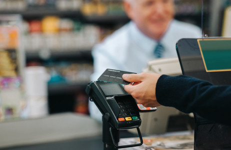 Paying in the supermarket