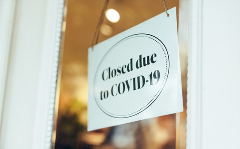 Store closed due to pandemic lockdown