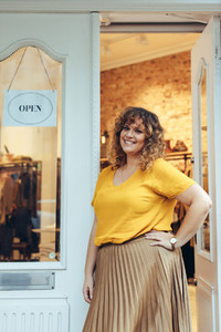 Successful clothing business owner
