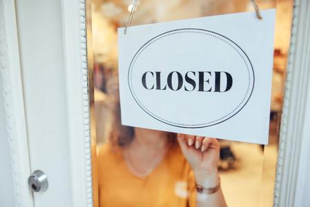 Fashion store closed