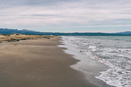 Lonely beach in the delta del ebro tarragona spain