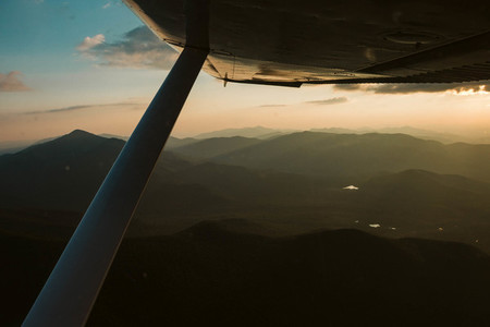 Aerial Mountains During Sunset