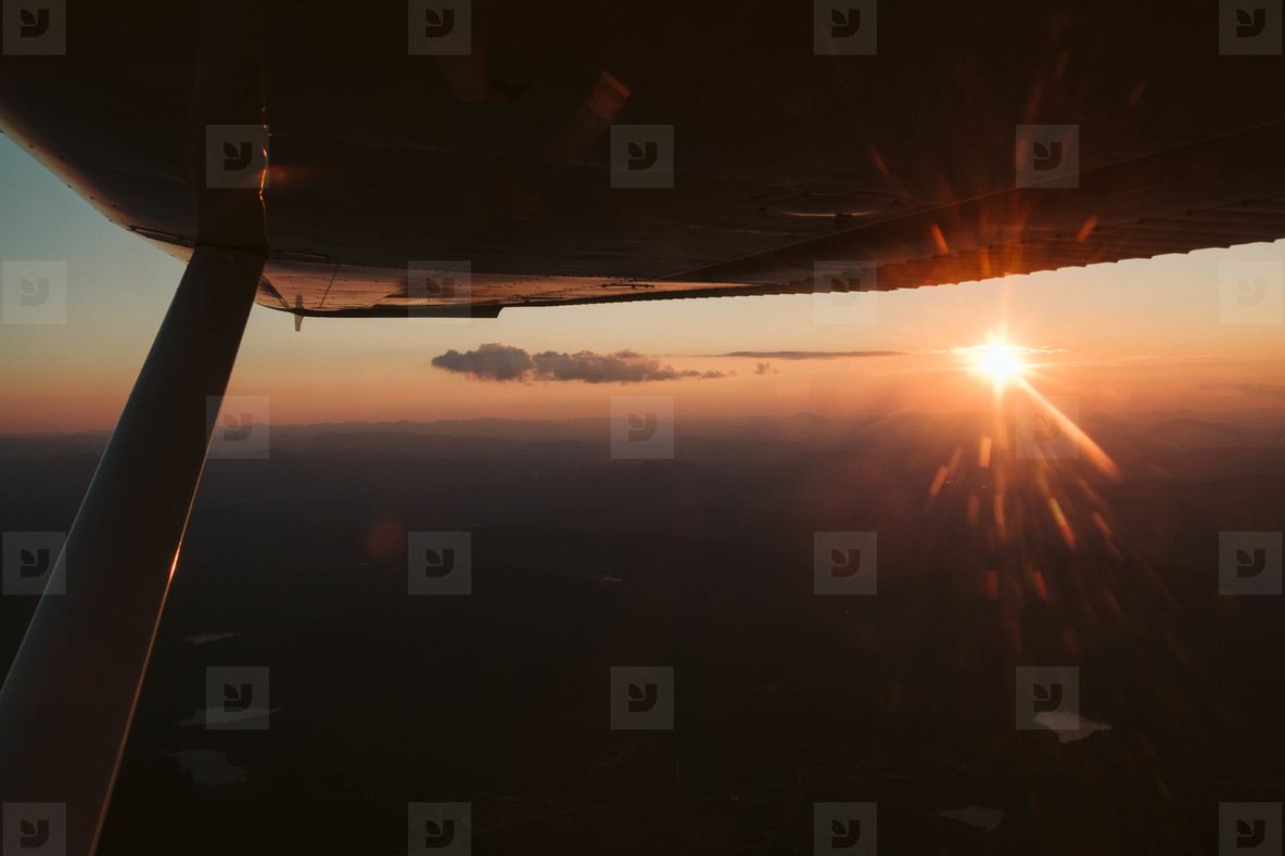 Sunset in Airplane