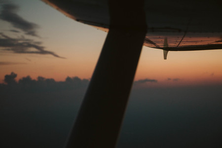 Sunset while flying