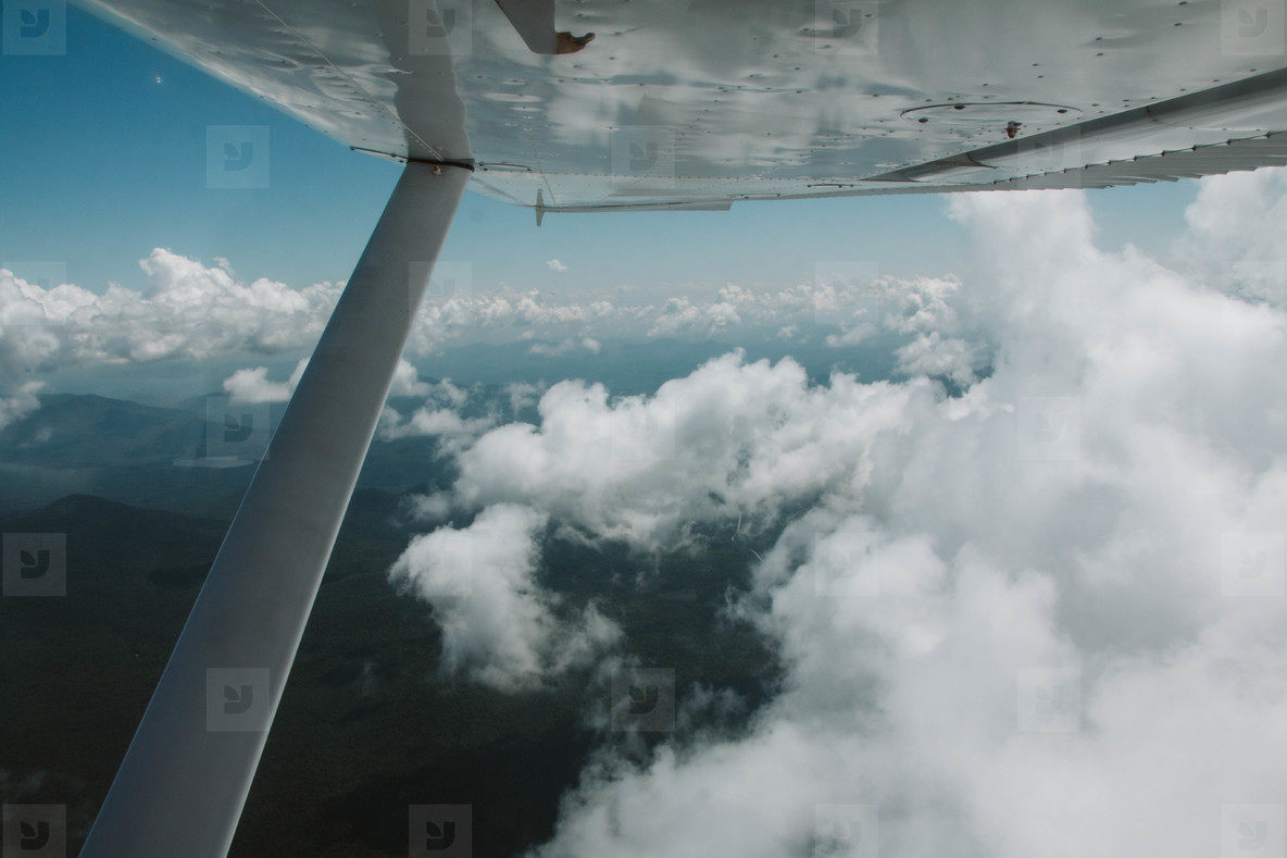 Clouds out airplane window