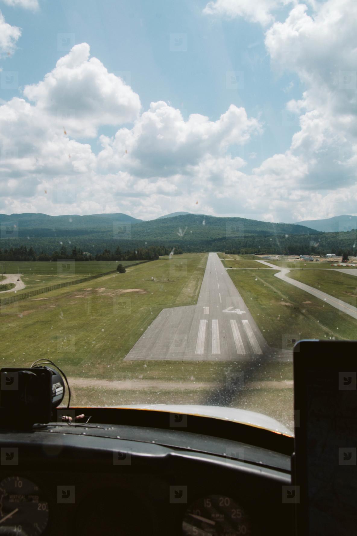 Landing on runway