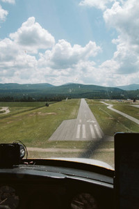 Landing on runway