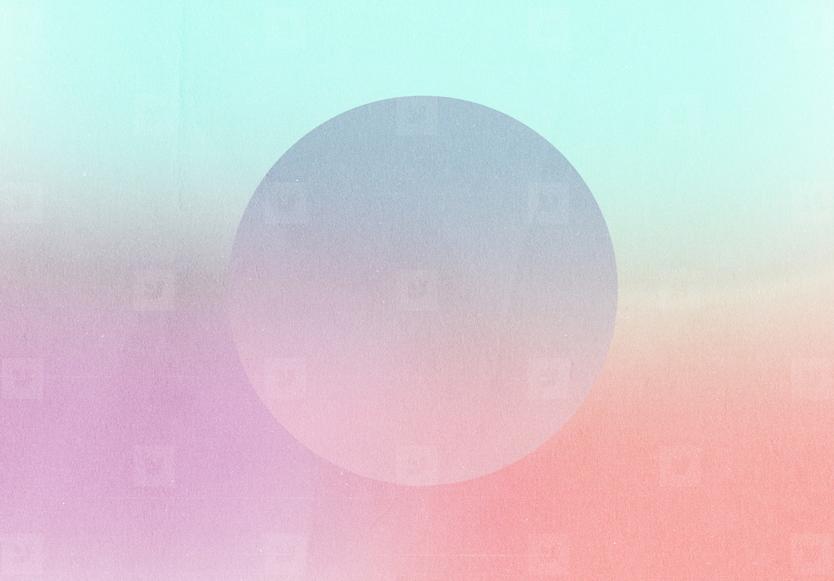 Abstract gradient retro pastel colorful and round shape with gra