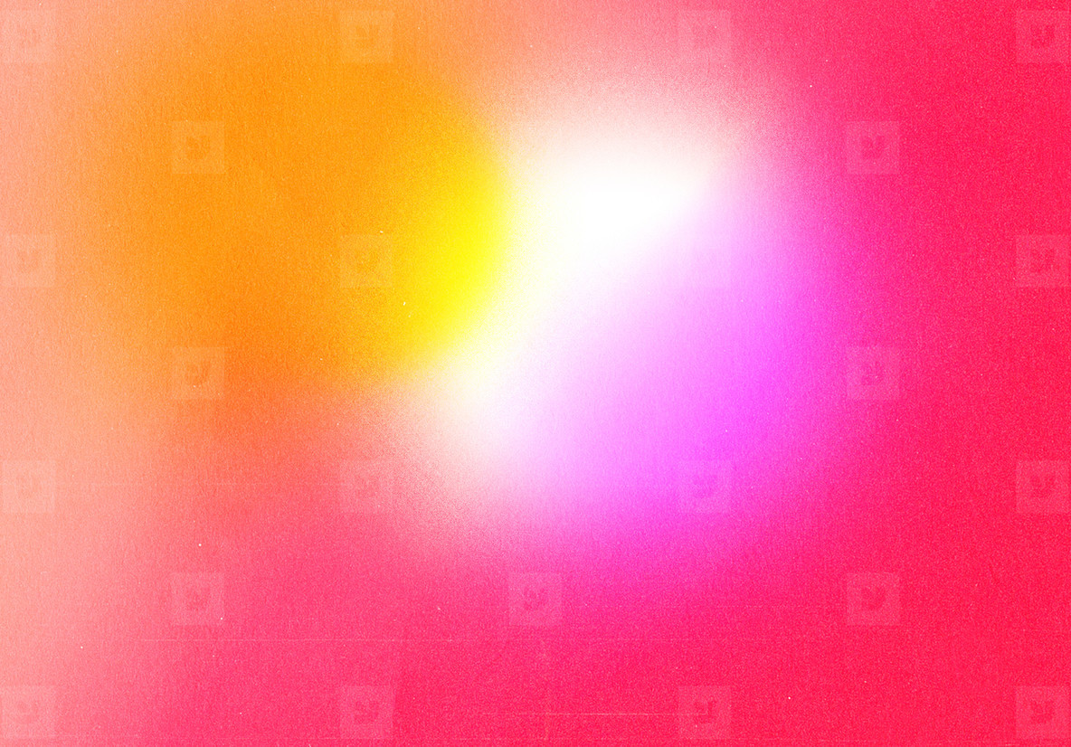 Abstract gradient retro vibrant colorful with grain noise effect