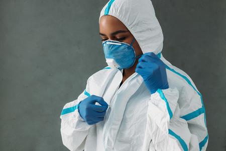 Female nurse in medical mask