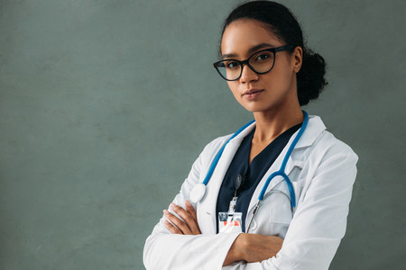 Young confident doctor