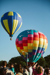 Crowd Watch Hot Air Balloons