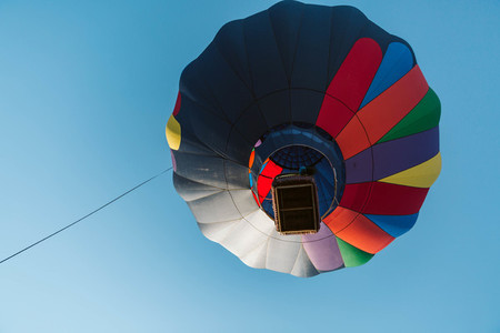 Underneath Hot Air Balloon