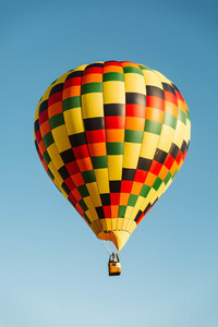 Checkered Hot Air Balloon