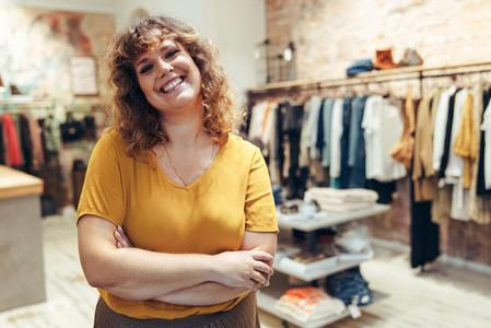 Successful fashion shop owner