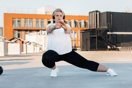 Plus size female in sportswear