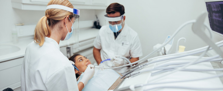 Dental procedure at clinic