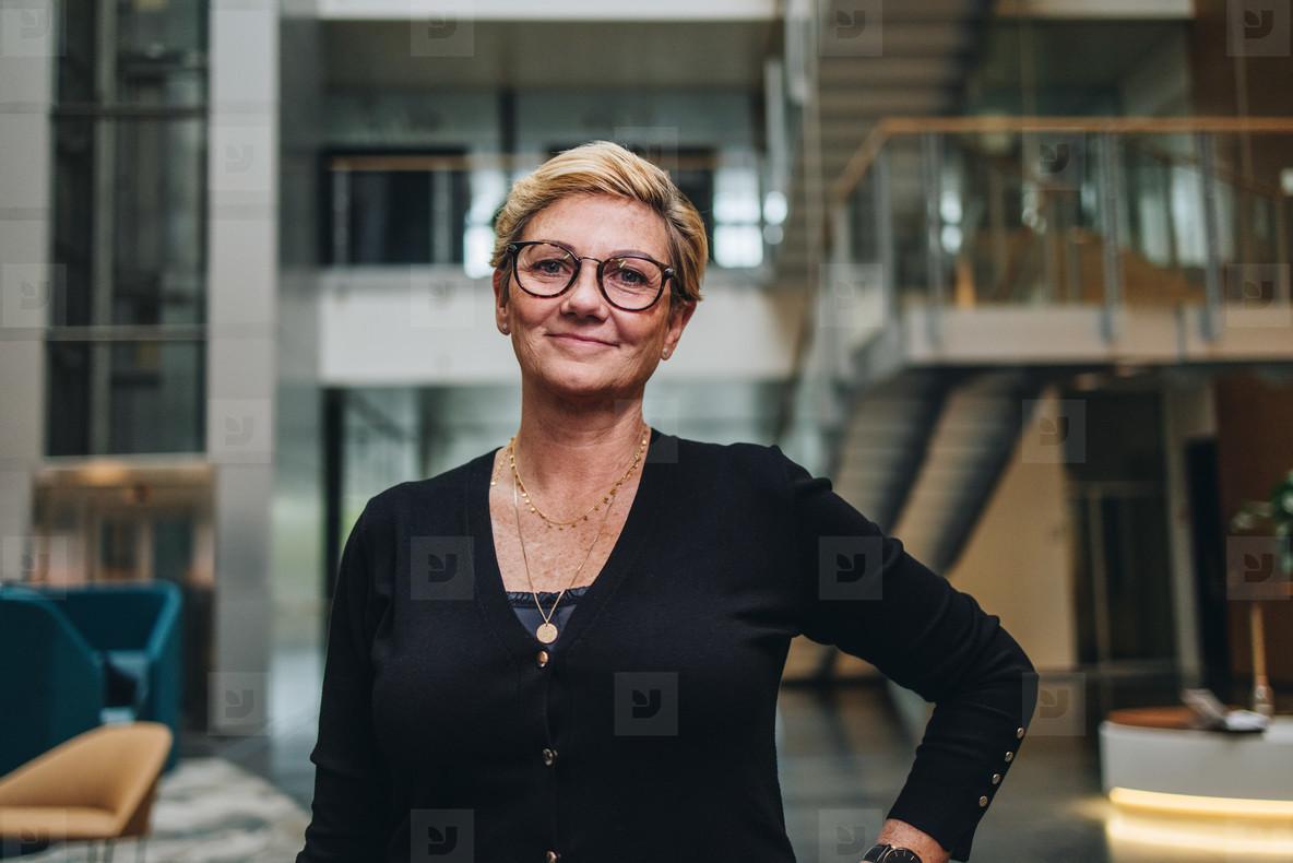 Successful senior businesswoman looking confident
