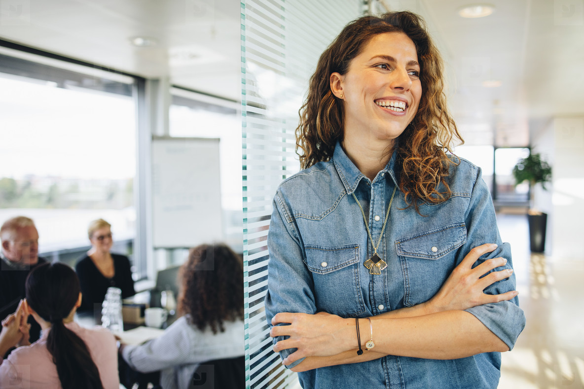 Successful businesswoman in office