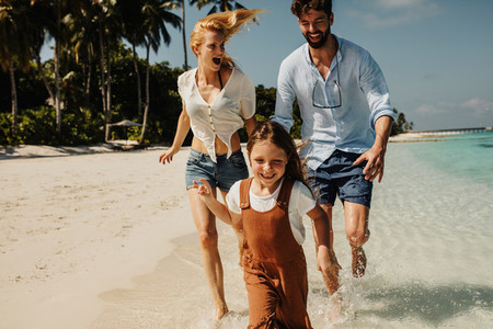 Family on a dream holiday