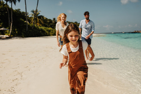 Kid enjoying beach holiday