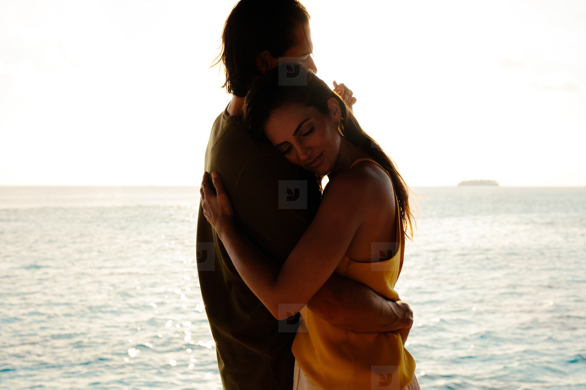 Couple on a romantic holiday at the sea