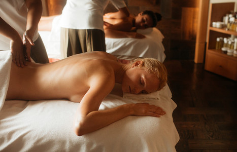 Relaxing massage at a spa
