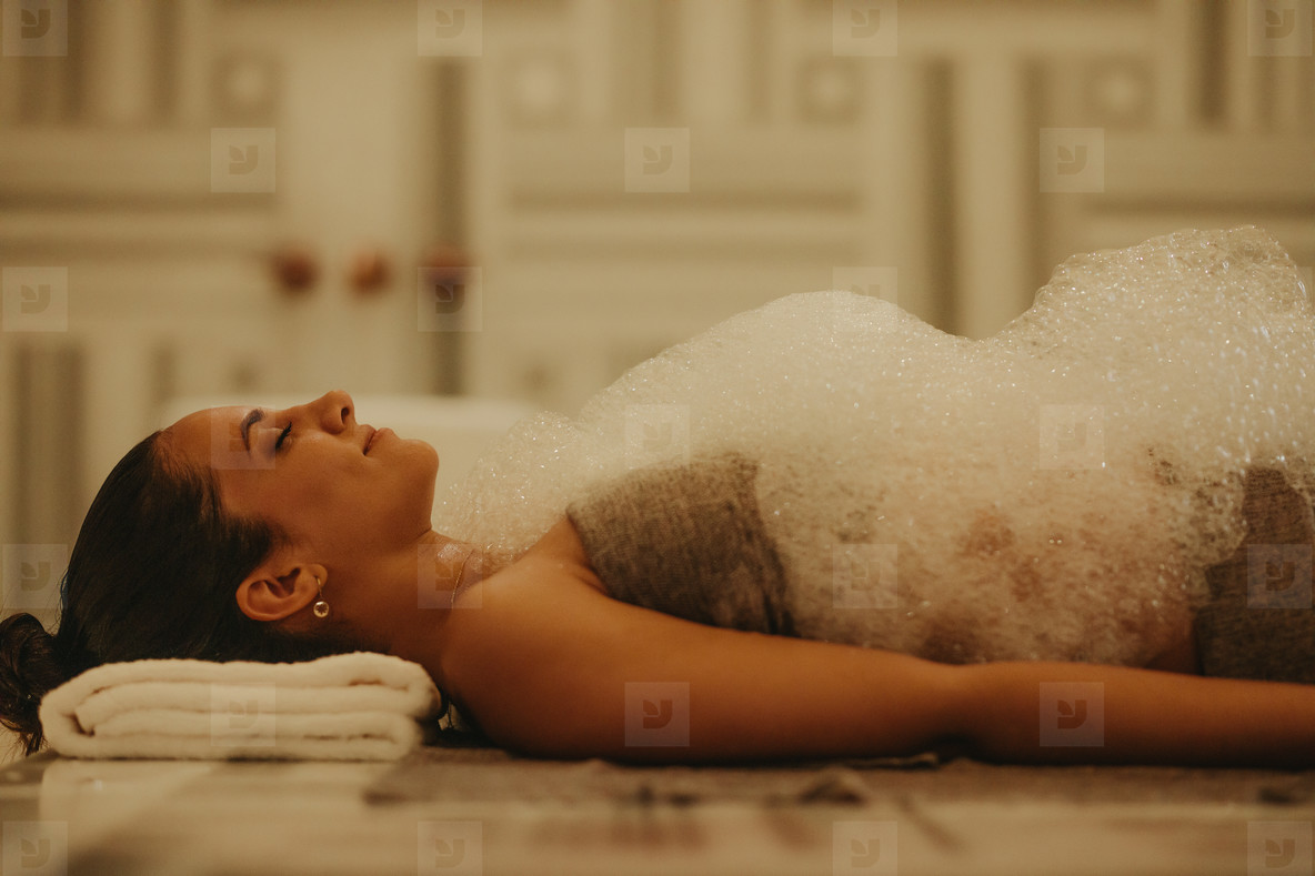 Refreshing Turkish bath therapy