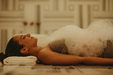 Refreshing Turkish bath therapy