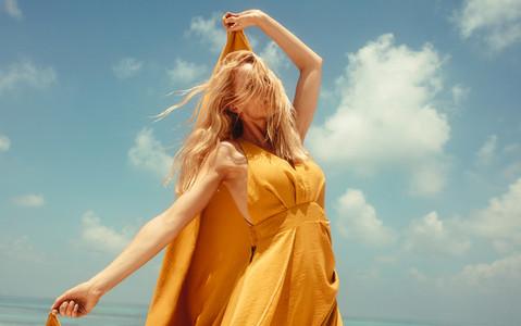 Portrait of a woman in summer fashion wear
