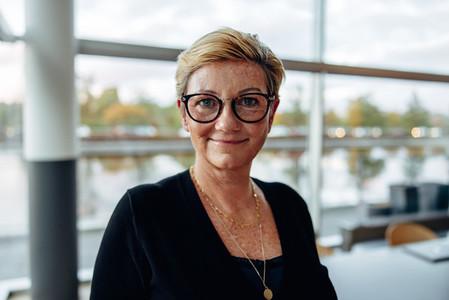 Confident senior businesswoman in office