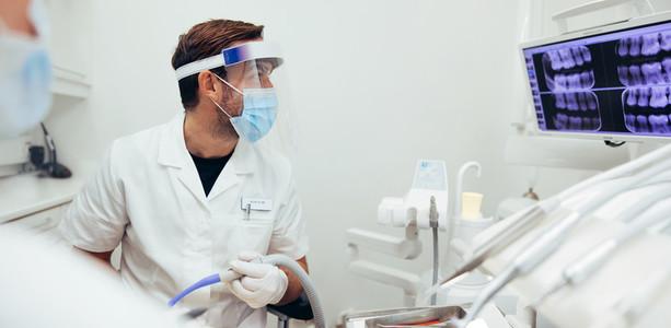 Dental procedure at dentistry