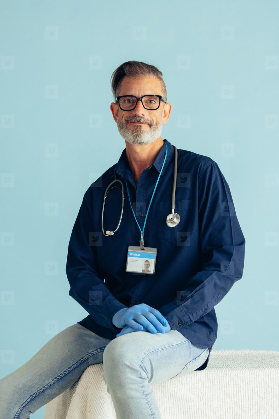 Portrait of a confident mature doctor