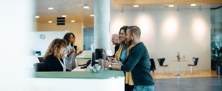 Municipality office reception