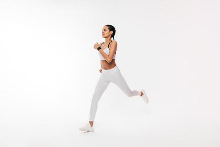 Fitness woman in sportswear run