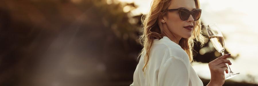Stylish woman in sunglasses