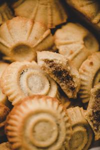 Turkish Hatay semolina cookies with walnut filling   date  figs