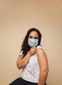 Mature female received vaccine