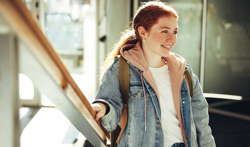 University student in campus