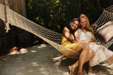 Women having fun on a vacation