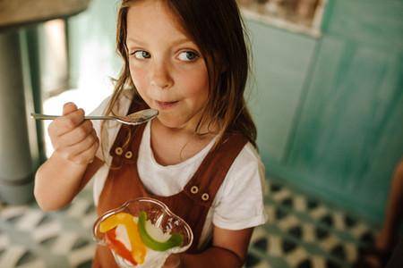 Girl enjoying ice cream