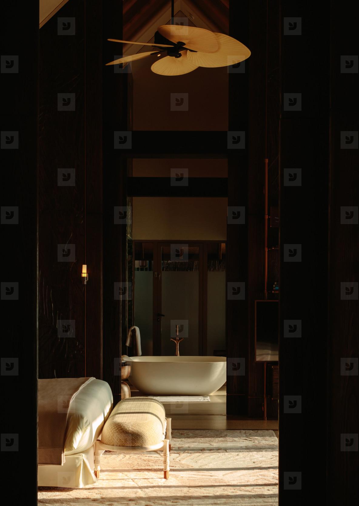 Luxury boutique hotel interior